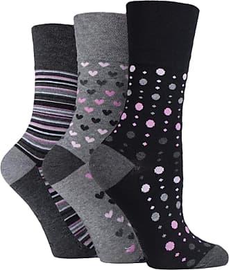 SockShop 6x Pairs of Ladies Bamboo Gentle Grip HoneyComb Top Non Elastic Socks by SockShop/UK 4-8 Eur 37-42