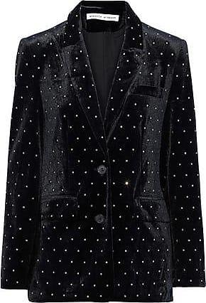 Rebecca Minkoff Rebecca Minkoff Woman Morris Crystal-embellished Velvet Blazer Black Size 10