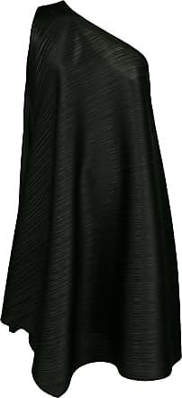 Issey Miyake micro pleated one shoulder dress - Black