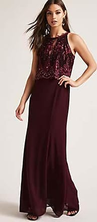 Forever 21 Forever 21 Soieblu Crepe Gown Wine