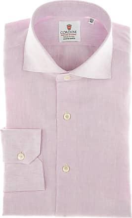 Cordone 1956 Camicia sartoriale Mod. Pink Linen Shirt - Tessuto lino - Colore rosa - Taglia 36