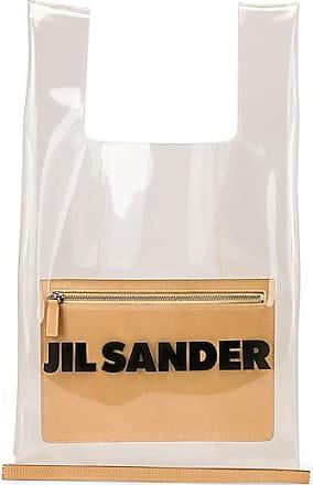 Jil Sander Logo Market Bag in Neutral,White