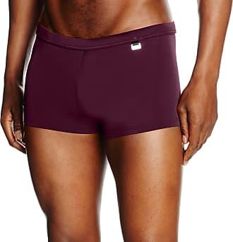 HOM Mens Marina Swim Shorts Boy, Red (Burgundy), S