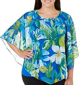 Alfred Dunner Womens Plus-Size Diamond Tiered Blouse