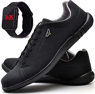 Juilli Kit Sapatênis Sapato Casual Com Relógio LED Masculino JUILLI 920DB Tamanho:41;cor:Preto;gênero:Masculino
