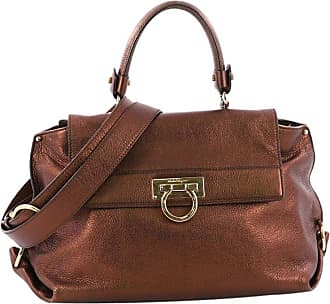 Salvatore Ferragamo Sofia Satchel Pebbled Leather Medium 236a09358bafa