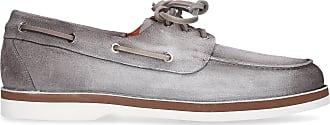 Santoni Moccasins 16511 suede grey