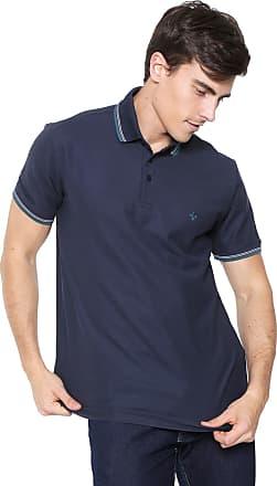 fc7c14253a Dudalina Camisa Polo Dudalina Reta Listras Azul-marinho