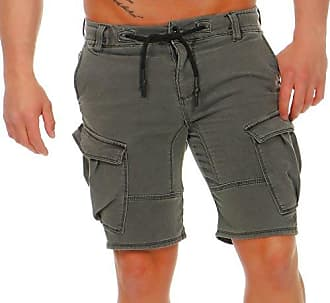 fed1a553d2a31e Urban Surface Herren Cargo Jogging Shorts Jeans-Optik LUS-124 Kurze Hose,  Seitentaschen