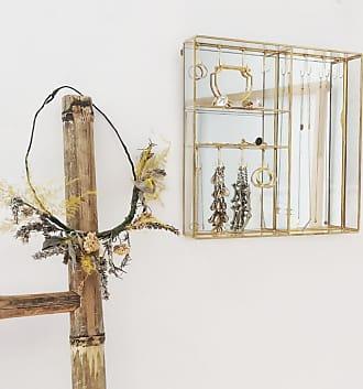 Posh Totty Designs Antikes Gold und Glas hängendes Schmuckregal