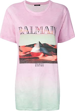 Balmain Multicolor Tie-dye Print T-shirt - The Webster