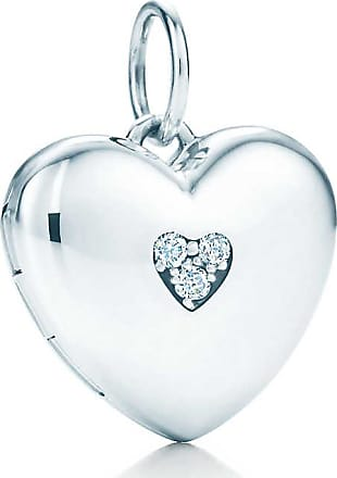 Tiffany & Co. Heart locket in sterling silver with diamonds, small