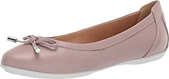 Geox Womens Charlene 27 Round Toe Ballet Flat with Bow, Dark Pink, 38 Medium EU (8 US)