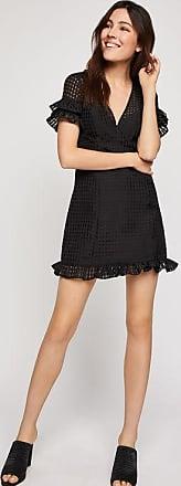 BCBGeneration Checkered Ruffle Dress