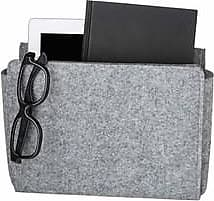 Kikkerland Bedside Storage Pocket - Light Gray