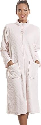 Camille Soft Fleece Pink Zip Front House Coat 10/12