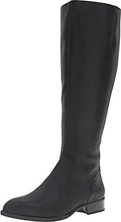 Nine West Womens Nicolah-Wide Leather Knee-High Boot, Black, 6.5 M US