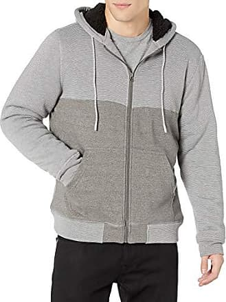 ONEILL Mens Sherpa Lined Full Zip Hooded Fleece Sweatshirt Jacket