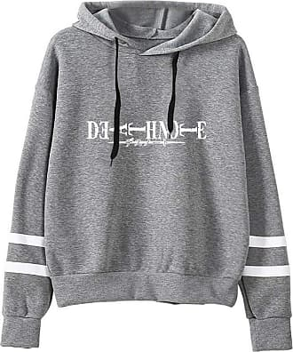 Haililais Death Note Pullover Pullover Sweatshirt Fashion Sweater Outerwear Adult Casual Sports Warm Wild Long Sleeve Men and Women Unisex (Color : Gray03, Size