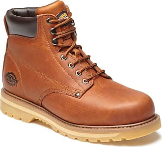 Dickies Mens Welton Non Safety Leather Lace Up Boots Ankle Hiking Walking Shoes Goodyear Welt Work FN23600 Tan 6-12 (7)