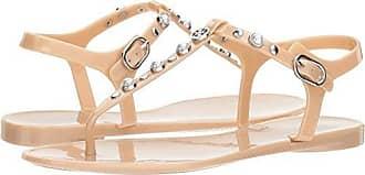 Guess Guess Womens janaye Flat Sandal, Natural, 8 M US