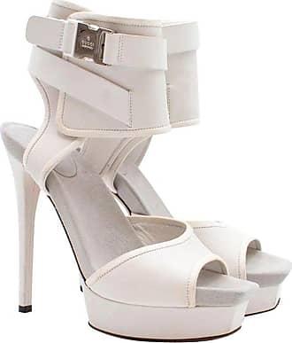 d9b4e982767c Gucci White Ankle Cuff Platform Sandals Us 7.5
