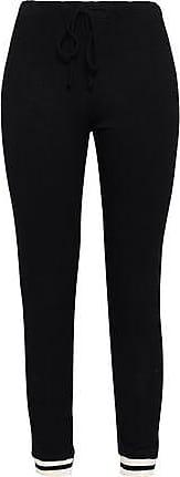 Monrow Monrow Woman French-terry Track Pants Black Size M