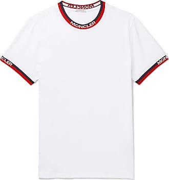 Moncler Logo Webbing-trimmed Stretch-cotton Jersey T-shirt - White