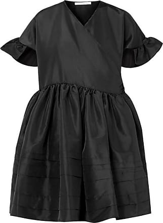 00962541d80fa Cecilie Bahnsen Prisca Pleated Satin Wrap Dress - Black