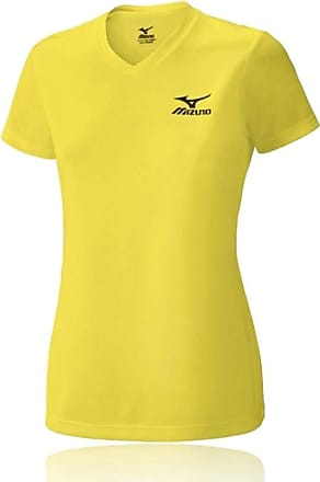 Mizuno Drylite Running Womens T-Shirt - Small Yellow