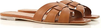 Saint Laurent Sandals for Women On Sale, Amber, Leather, 2017, 10 11 5.5 6 7 8.5