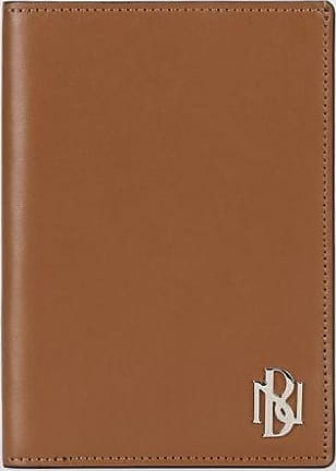 Neil Barrett Metal Monogram Leather Passport Holder