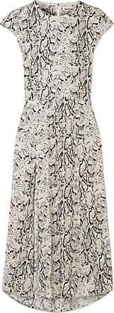 Reformation Gavin Open-back Snake-print Crepe De Chine Midi Dress - Snake print