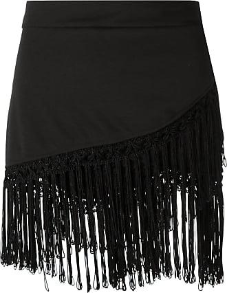 Amir Slama fringed skirt - Schwarz