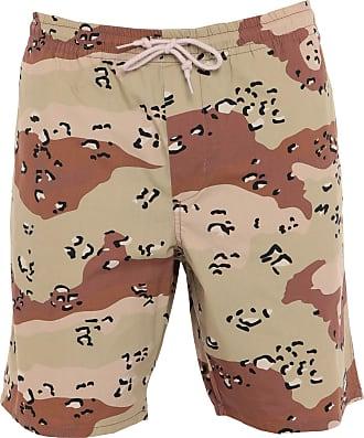 Uomo Donna Bermuda Pantaloncini Da Bagno Costume PANTS Mokka Marrone in m
