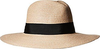 ále by Alessandra Womens Terranea Toyo Fedora With Ribbon Trim and Rated UPF 50+, Tan, One Size