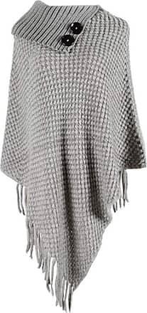 Hellomiko Womens Knitted Jumper Poncho Blanket Cape Turtleneck Shawls Wraps Tassels Irregular Hem Scarf Pullover Sweater Coat Tops