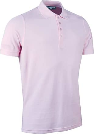 Glenmuir Mens MSC7211 Classic Fit Cotton Pique Polo Shirt-Hyacinth-Large