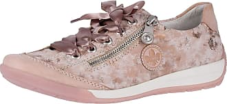 Rieker M3024-32 Womens Lace Up Zip Flat Shoes Trainers Rosa 7.5 UK