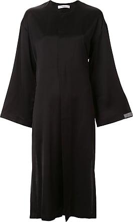 Ujoh Vestido reto com mangas amplas - Preto