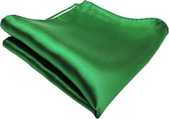 TigerTie woven TigerTie Designer Satin silk handkerchief in green traffic-green monochrome - Pochette 30 x 30 cm - handkerchief 100% pure silk