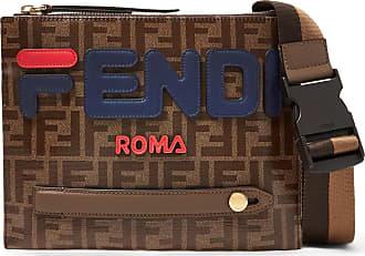 Fendi Logo-appliquéd Printed Coated-canvas Messenger Bag - Brown