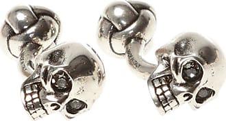 Alexander McQueen Skull Cufflinks Mens Silver