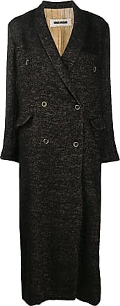 Uma Wang knitted loose fit double-breasted coat - Brown