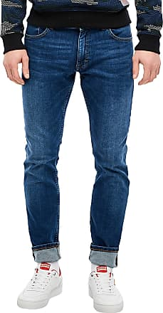 Q/S designed by Mens 44.899.71.3155 Slim Jeans, Blue (Mid.Blue Heavy STO 56z6), W32 (Size: 32/34)