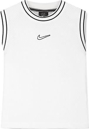Nike Court Essentials Jersey-trimmed Appliquéd Mesh Tank - White