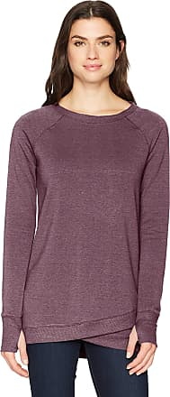 Jockey Womens R&r Crisscross Tunic Dress Sweatshirt, Burgundy Bliss Heather-56700, 2X