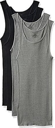 Fruit Of The Loom Mens Premium A-Shirt (Pack of 4) Assorted, Black/Gray, Small