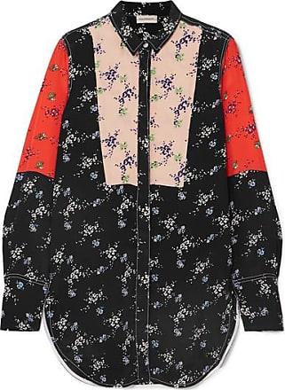 By Malene Birger Luccah Floral-print Crepe De Chine Shirt - Black