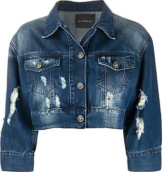 John Richmond Jaqueta jeans cropped - Azul